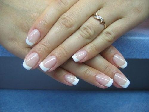 Гелевые ногти французский маникюр